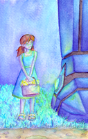 Little Girl with a Giant Mech by Zalein