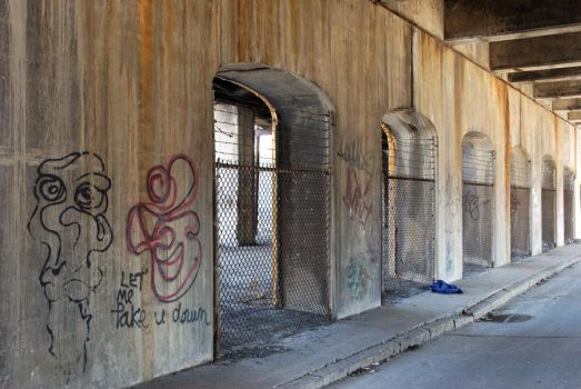 Arches and Graffiti by KameleonKlik