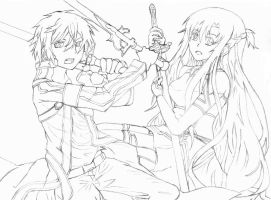 Sword Art Online Sketch by kjang