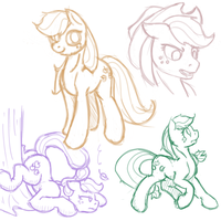 Applejack Sketches 2 by Geomancing