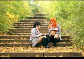 BLEACH : Rukia and Orihime by Amapolchen