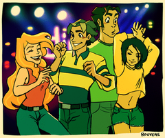 CotT: Theresa, Jay, and Herry at the Club by student-yuuto