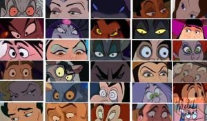 Disney Villian Eyes by JeebusOfTheSwatKats