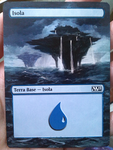 Magic the Gathering alter: Island by stitch-84