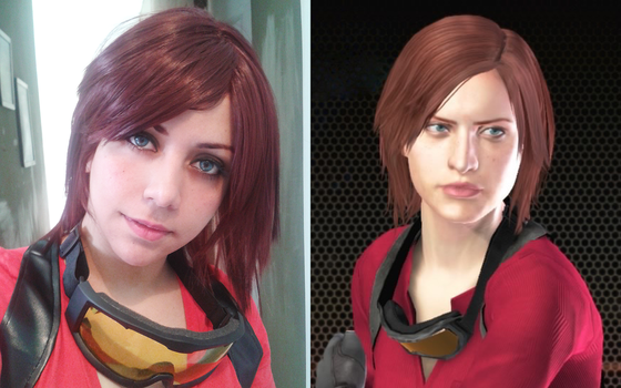 Claire Redfield sniper cosplay by VickyxRedfield