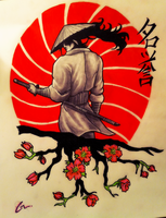 Samurai Tattoo Design by MrMattFl