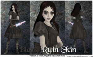 A:MR Skin - Black Ruin by EvanescentAngel666