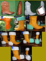 Start To Finish ASHE BOOTS WIP by ShadowFox777