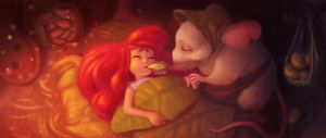 thumbelina and the field mouse by splinterD