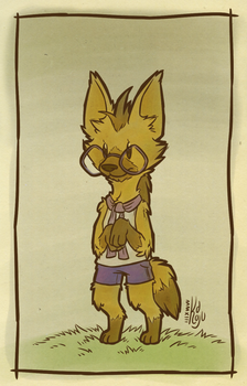 Shy Aardwolf by casual-dhole