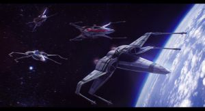 Star Wars Fighters Formation Commission by AdamKop