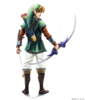 Link with the Master Bow by Spire-III