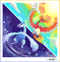Lugia, Ho-Oh!  Pokemon One a Day, Series 2!