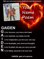 Poeme Name by GaidenTheWolf
