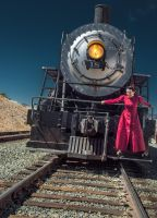 Steampunk Unwoman Virginia and TruckeeP7020214 by MartinGollery