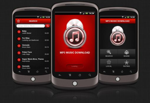 MP3 Music Android App by amitrai10