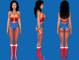 My new Retro Version of Wonder Woman by Madcurse
