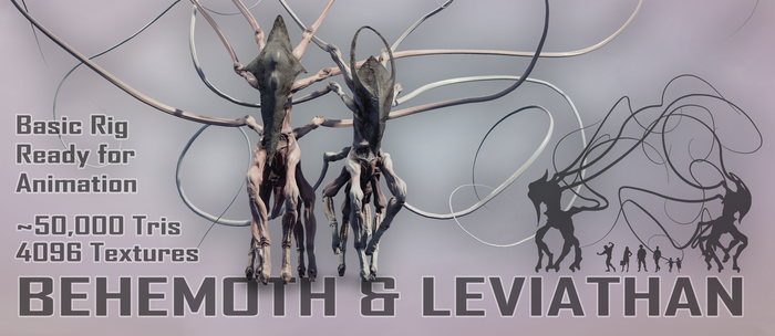 Biblical Beasts Behemoth and Leviathan by Lexinator117