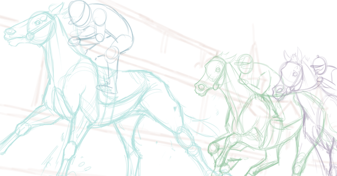 Kentucky Derby Race Entry WIP by Shitlet
