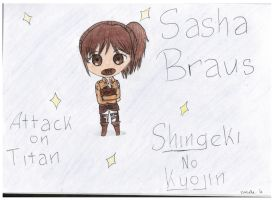 Sasha Braus - Snk/AoT - Chibi version by KatsuAiki