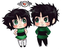 Chibi Greens by jailbaitCAT