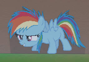 Rainbow Dash Filly Minecraft by annary