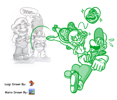 Mario and Luigi Collab- CaptainJamesman's Idea by Nintendrawer