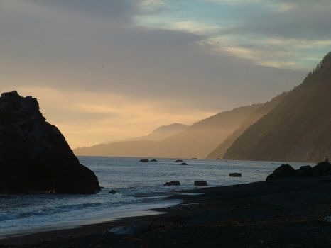 Sunset up the Lost Coast by sallyplant
