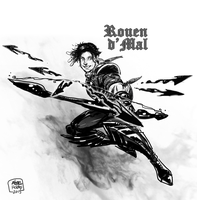 Rouen d'Mal sketch 001 by holaso