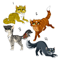 [ Warrior/Cat adopts ] by Duchess-Masquerade