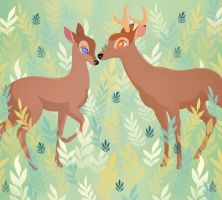 Bambi and Faline by rachels89