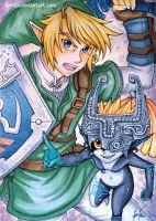 Link and Midna by Ferchii