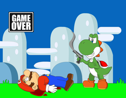 Game Over, Mario by Charmeleon221