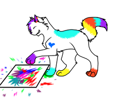~Splattered Colors~ *Art trade with BlossomTehKat* by Jay-Pines