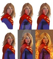 Stages Of Supergirl by pagandevil