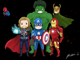 The Avengers (Chibi Ver. feat. Spiderman) by mmidori31