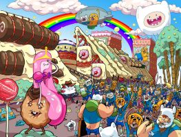 Candy Capers #1 Adventure Time #18 SDCC Exclusives by BTURNERart
