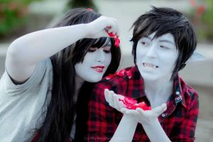 Marceline and Marshall Lee by twinings-lennon