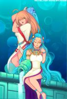 Water-Bearing Maidens by revolverwingstudios