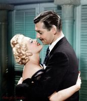 Lana Turner and Clark Gable by klimbims