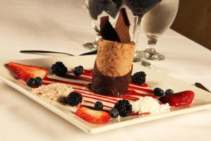 Chocolate Mousse Tower by Lefay23