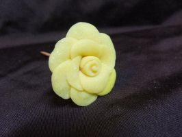 Yellow Glitter Rose by Snowifer