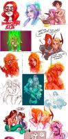 collection of sketches 12 by Ripushko