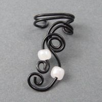 Black and White Ear Cuff by sylva