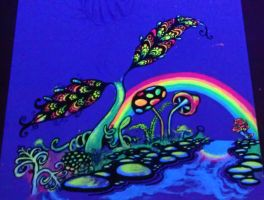 invisible UV painting- 'psychedelic dream' by DMVCustomDesign
