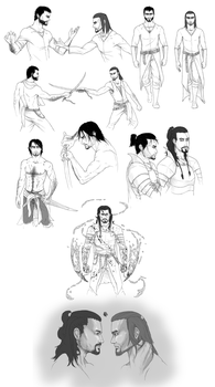 Easterners sketch dump by Waspino