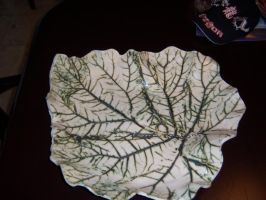 Clay Leaf Bowl 1 by NINJAWERETIGER