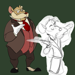 Sibling rivalry WIP by TopHatTurtle