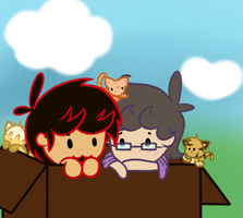 Just like an adorable box of kittens by wolfishmeow