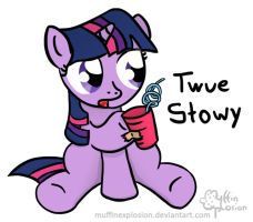 Twue Stowy, bwo! by muffinexplosion